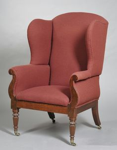 american empire wing chair