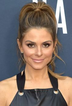 Maria-Menounos-high-ponytail-nude-lipstick