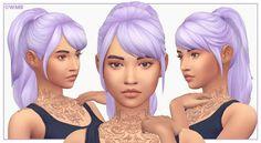 Leela Hair V1 by WMS via blogspot I Maxis Match I Sims 4