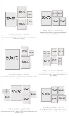 Gallery Wall layout options from Desenio Decoration Photo, Photo Wall Decor, Room Wall Decor, Living Room Decor, Wall Decor Pictures, Hanging Pictures, Photo Wall Layout, Gallery Wall Layout, Gallery Wall Frames