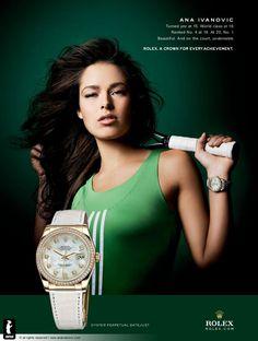 Ana-Ivanovic- for Rolex Perpetual Datejust Ladies www.livingahealthylifestyle.siterubix.com/ #Rolex #luxury watches