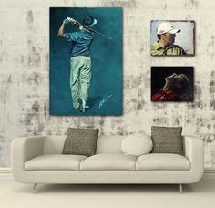 Louis Oosthuizen painting by mark robinson