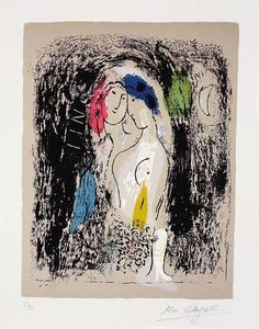 Marc Chagall – Lovers in Grey, 1957
