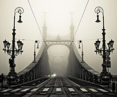 Bridge in Budapest, Hungary, over the Danube River. Built in 1896 & a World Heritage Site.