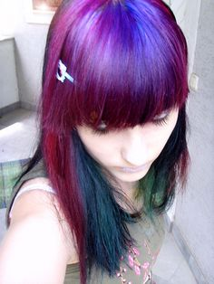 colorful hair. love this pallet choice.