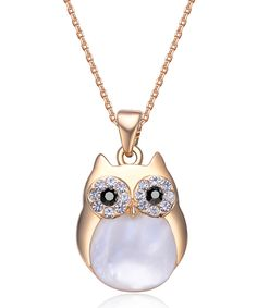 Look at this Gold Professor Owl Pendant Necklace Made With SWAROVSKI ELEMENTS on #zulily today!
