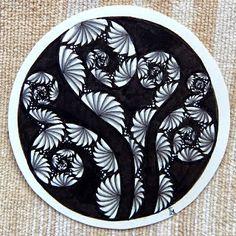 Lily's Tangles: Zentangle@  - #DRAW #ZENTANGLE #ZENDALA #TANGLE #DOODLE #BLACKWHITE #BLACKANDWHITE #SCHWARZWEISS