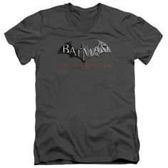 """Checkout our #LicensedGear products FREE SHIPPING + 10% OFF Coupon Code """"Official"""" Arkham City / Logo - Short Sleeve Adult V-neck - Arkham City / Logo - Short Sleeve Adult V-neck - Price: $34.99. Buy now at https://officiallylicensedgear.com/arkham-city-logo-short-sleeve-adult-v-neck"""