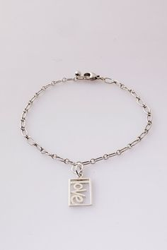 Sterling Silver Charm Bracelet  Sterling Silver 925 by TalulahLee, $80.00