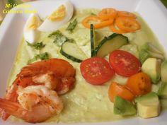 Mi cocina: GAZPACHO DE AGUACATE Y CALABACIN