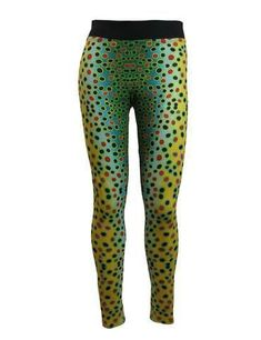 AD Maddox's Brown Trout print on a yoga-style legging. Wear as wader liners, long underwear, workout leggings, or to get trouty for a night on the town. Sea Fishing, Trout Fishing, Fishing Tips, Fishing Quotes, Women Fishing, Carp Fishing, Fishing Rod, Fishing Tackle, Fishing Games