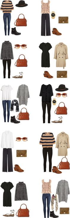 What to Wear in Florence Italy. Packing Light outfits 1-10. The entire list is on the blog. #packinglight #packinglist #travellight #traveltips