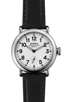 The Runwell 36mm watch in white & black