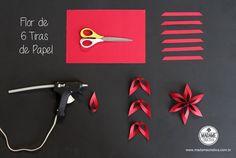 Material - Como fazer flor de seis tiras -  Passo a passo com fotos - material -How make a six strips flower - DIY tutorial  - Madame Criativa - www.madamecriativa.com.br
