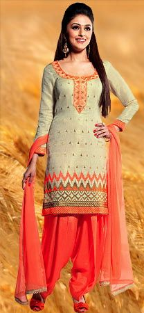 off-white and coral #salwar kameez