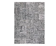 Tappeto in seta Aida bianco/nero, 240x170 cm