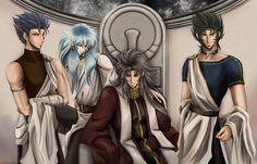 Cancer DeathMask, Pisces Aphrodite, Pope Saga and Capricorn Shura