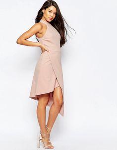 Изображение 4 из Асимметричное платье с высокой горловиной ASOS