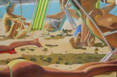 #Strand #Brasilien #Meer #Kunst #ölmalerei ##zeitgenössischekunst #Sommer Strand, Etsy Seller, Painted Canvas, Contemporary Artwork, Brazil, Places, Summer Recipes