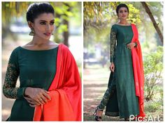 Colors & Crafts Boutique™ offers unique apparel and jewelry to women who value versatility, style and comfort. For inquiries: Call/Text/Whatsapp Churidar Designs, Kurti Neck Designs, Kurta Designs Women, Kurti Designs Party Wear, Blouse Designs, Indian Attire, Indian Wear, Indian Outfits, Indian Designer Suits