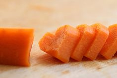 Heart shaped carrots!