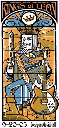 Band Poster - Kings of Leon. Newport Music hall, Columbus, OH, USA, 2005.