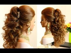Prom bridal curly hairstyle for long  hair tutorial -  My second channel with hairstyles! http://www.youtube.com/womenbeauty1Ru Follow me on: Instagram. My Official Page : http://instagram.com/womenbeauty1hairstyles FACEBOOK: https://www.facebook.com/pages/Womenbeauty1/369029276535217 My channel with drawings- https://www.youtube.com/user/drawtogether1 Music: Talky Beat Youtube audio library Talky Beat by Twin Musicom is licensed under a Creative Commons Attribution license (
