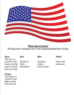 Meaning of The US Flag Colors, Stripes and Stars Government Lessons, Teaching Government, History Education, Teaching History, American Flag Meaning, American Flag Facts, American Pie, Early American, Native American
