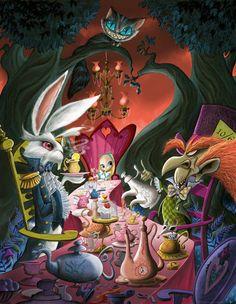 """Tea Party Reunion"" By Guy Vasilovich - Limited Edition Giclée on Canvas"