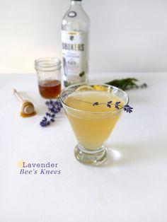 Gin, Honey & Lavender? My favorites:: Lavender Bees Knees {Cocktail Friday} Lavender Bees Knees