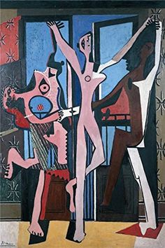 Oil Painting Pablo Picasso  The Three Dancers 1925 Printing On High Quality Polyster Canvas  24x36 Inch  61x92 Cm the Best Laundry Room Gallery Art And Home Decoration And Gifts Is This Replica Art DecorativeCanvas Prints >>> Check out the image by visiting the link.Note:It is affiliate link to Amazon.