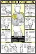 Shoulder Workout (Men's) Professional Fitness Wall Chart - F.- Shoulder Workout (Men's) Professional Fitness Wall Chart – Fitnus Corp Get fit - Fitness Man, Body Fitness, Fitness Tips, Fitness Motivation, Health Fitness, Health Club, Workout Fitness, Free Workout, 300 Workout