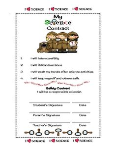 Here's a nice science safety contract.