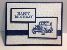 If you are needing a quick and simple masculine birthday card, this is the way to go!!! It doesn't get much more simpler than this. Wel...