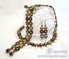 Tapestry - A Tutorial for a Necklace, Bracelet, Earring set | patrickduggandesigns - Jewelry on ArtFire