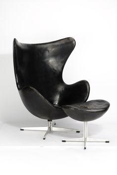 AuBergewohnlich Arne Jakobsen, Egg Chair Mti Ottomane Modell 3316 (1957 1958)
