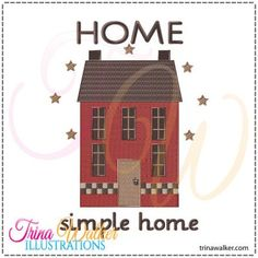 Home Simple Home 1 Machine Embroidery Design 5x7 http://trinawalker.com/shop/index.php?main_page=product_info&cPath=78_79&products_id=197