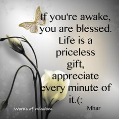 If Youre Awake, You Are Blessed Inspirational Life Quotes Appreciate Life Quotes, Life Quotes Love, Quotes To Live By, Funky Quotes, Random Quotes, The Words, Soli Deo Gloria, Life Is Precious, Precious Gift