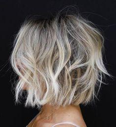 Bob Hairstyles For Fine Hair, Medium Bob Hairstyles, Messy Hairstyles, Hairstyle Ideas, Party Hairstyle, Hair Ideas, Pixie Haircuts, Wedding Hairstyles, Fine Hair Bobs