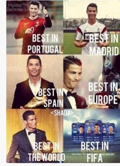 Best in Portugal; Best in Madrid; Best in Spain; Best in Europe; Best in Fifa -> simply Cristiano Ronaldo Cr7, Cr7 Vs Messi, Cristino Ronaldo, Cristiano Ronaldo Wallpapers, Ronaldo Juventus, Ronaldo Memes, Ronaldo Football, Lionel Messi, Soccer Memes