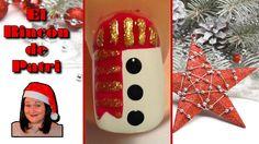 Diseño de uñas muñeco de nieve de Navidad de El rincón de Patri Nail Art. Sigue todos nuestros diseños de decoración de uñas en http://www.rincondepatri.com Christmas Snow Man Nail Art
