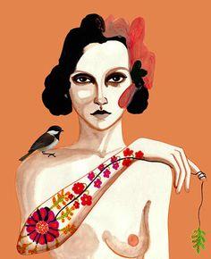 PRINT / Flower Tattoo 8x10 by PeggyWolfDesign on Etsy, $30.00