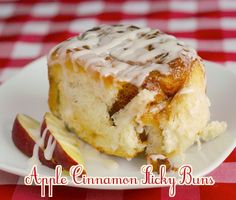 Apple Cinnamon Sticky Buns - the lightest fluffiest cinnamon rolls ever...and what goes better with cinnamon than apples? It's a deliciously different cinnamon roll that totally makes sense.
