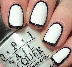 Generally, people thought nail art can be possible on long nails But actually, it's not so! Simple nail art designs for short nails are not only popular Cute Easy Nail Designs, Short Nail Designs, Black And White Nail Designs, Black White Nails, Black Tie, Easy Nail Art, Simple Nails, Classy Nails, Coffin Nails