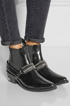 Toga Pulla|Embellished leather Chelsea boots|NET-A-PORTER.COM