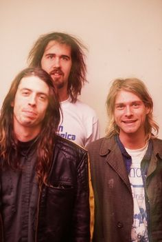 Nirvana's line-up of Dave Grohl, Krist Novoselic and Kurt Cobain!