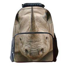 f3268439fc Find amazing Vere Gloria Unisex School Backpack Bags Animal Print Felt  Fabric Hiking Daypacks (rhinoceros) rhino gifts for your rhino lover.