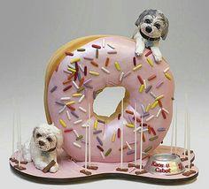Dog and donut cake Dog and donut cake Cake Dog, Dog Cakes, Cupcake Cakes, Mini Cakes, Pretty Cakes, Beautiful Cakes, Amazing Cakes, Unique Cakes, Creative Cakes