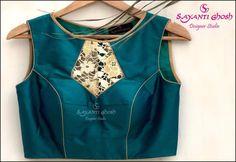 Saree Blouse Patterns, Sari Blouse Designs, Dress Sewing Patterns, Blouse Styles, Stitching Dresses, Choli Designs, Bridal Jewellery, Boat Neck, Sarees