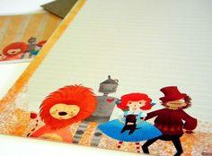 Wizard of Oz Stationery Set - Follow the Yellow Brick Road Mini Letter Writing Set - Kids Stationery. $15.00, via Etsy.